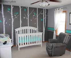 White Tree Wall Decal Nursery Tree Wall Decals For Nursery Roselawnlutheran
