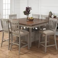 Light Wood Counter Height Dining Sets Foter - Light wood kitchen table