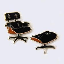 Lounge Ottoman Robot Eames Lounge Chair Ottoman Enamel Pin Set