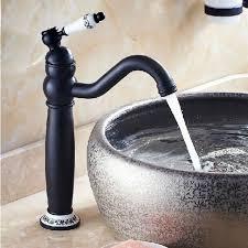 Oil Rubbed Bronze Vessel Sink Faucet Rotation Neck Dark Oil Rubbed Bronze Vessel Sink Faucet
