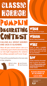 Join Us for the Classic Horror Pumpkin Decorating Contest