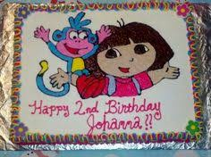 dora explorer birthday cake cakery