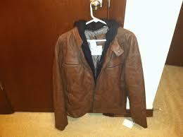 hooded motorcycle jacket calvin klein faux leather hooded moto jacket youtube