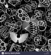 tattoo seamless pattern skull and brass knuckles rose and heart