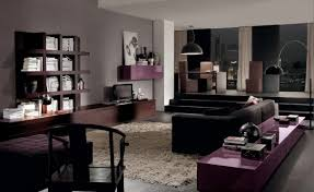 Living Room With Black Furniture by Simple Bookshelf Designs Home Designing