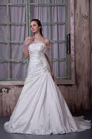 brautkleid sale a form satin hochzeitskleid brautkleid mit deko blumen