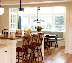 dining room breakfast nook decorating idea with rustic table and
