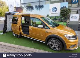 volkswagen new van new volkswagen caddy beach camping van stock photo royalty free