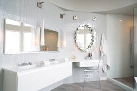 Bathroom Vanities Portland Or Portland White Pebble Tile Bathroom Contemporary With Light Wood
