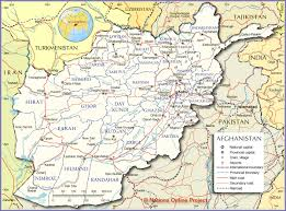 Map Of Southwest Asia And North Africa by Political Map Of Afghanistan Nations Online Project