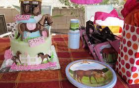 kids birthday party with a beautiful u0027horse farm u0027 cake pony rides