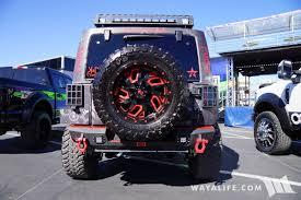 police jeep 2017 sema rbp dare tribal police black jeep jk wrangler unlimited
