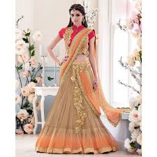 beige and peach color saree sku no man mit 3906