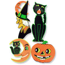 Vintage Halloween Decor Cutouts