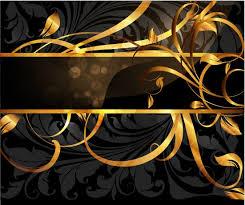 set of vintage golden cards elements vector 04 vector card