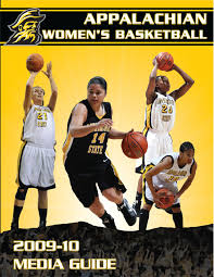 2009 10 appalachian state women u0027s basketball media guide by