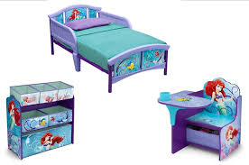 little mermaid bedroom set toddler bed toy organizer desk chair