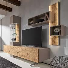 bohle combination tv wall unit natural oak u0026 glass occasional