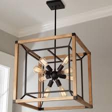 Rectangular Lantern Chandelier Indoor Outdoor Rectangular Rustic Chandelier Shades Of Light