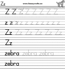 letter z handwriting worksheets for preschool to first grade