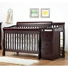 Crib Bed Combo Sorelle Tuscany 4 In 1 Convertible Crib And Changer