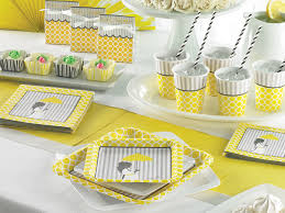 mod baby shower mod baby shower decorations yellow and grey baby shower