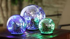 Garden Gazing Globes Silver Color Changing Mercury Glass Globes 845009 From Evergreen