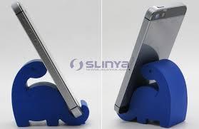 plastic lovely puppy funny cell phone desk animal holder for