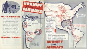 United Route Map Braniff Was To Replace Dc 8s With 767s Airliners Net