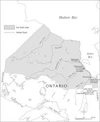 Map Of Ontario Map Of Ontario U0027s Far North Including The First Nations