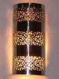 Moroccan Sconce Moroccan Wall Light Wall Sconce Fine Chiselled Rose Pattern