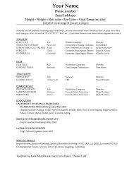 Ballet Resume Sample by Best 25 Acting Resume Template Ideas On Pinterest Resume