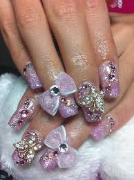 new bow nail art blue designs for girls nail designs pinterest