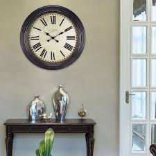 home decor wall clock home decorators collection tucker 39 25 in x 31 5 in iron wall