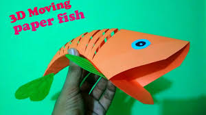 how to make an origami moving paper fish 3d moving fish craft