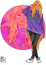 disney university rapunzel loves everything she is studying