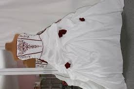 brautkleider rot weiãÿ brautkleid hochzeitskleid rot weiß 48 50 52 nazzals traumhochzeit