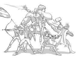 avengers defending earth coloring download u0026 print