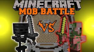 zombie pigman vs wither skeleton minecraft mob battle arena