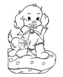 puppy and bug coloring page for kids animal coloring pages
