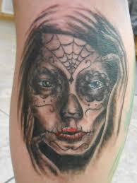 mujer de dia de los muertos tattoo by goldfish bloop on deviantart