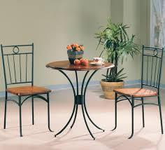 metal top kitchen table coaster tamiami 3 piece bistro dining set value city furniture
