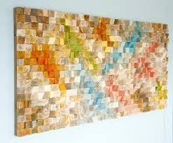 wood wall geometric wood sale mosaic mid century