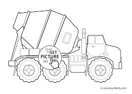 truck transportation coloring pages for kids printable