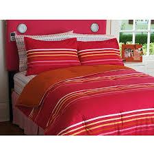 Pink Striped Comforter Your Zone Multi Stripe Reversible Comforter Set Walmart Com