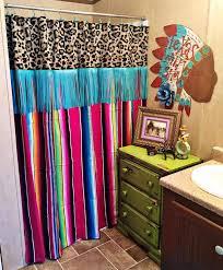 serape revival fringe shower curtain order here www gypzranch com