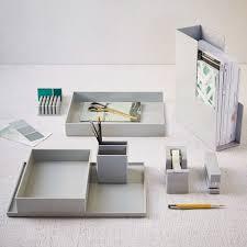 Colorful Desk Accessories Color Pop Office Accessories Light Gray West Elm