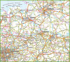 Stuttgart Germany Map by Lower Saxony Road Map