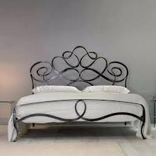 wrought iron headboard el sol metal finish satin black size full