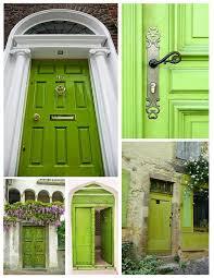 Front Door House House And Surroundings Green Front Door Design Ideas U0026 Decor